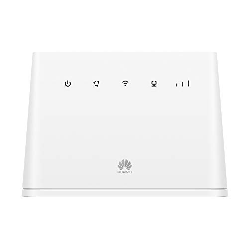 Huawei B311 4G LTE Router 2 (Cat.4, 4G LTE bis zu 150 Mbit/s(Download), 50 Mbit/s(Upload), WiFi 300Mbps, 1x Gigabit LAN, 1x TEL) Weiß
