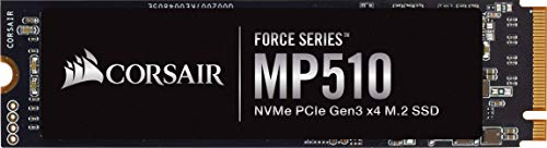 Corsair MP510, Force Series, 480 GB schnelle Geschwindigkeit Gen 3, NVMe PCIe x4, M.2-SSD (Bis zu 3.480 MB/s Sequenzielle Lesegeschwindigkeit, 2.000 MB/s Sequenzielle Schreibgeschwindigkeit) Schwarz