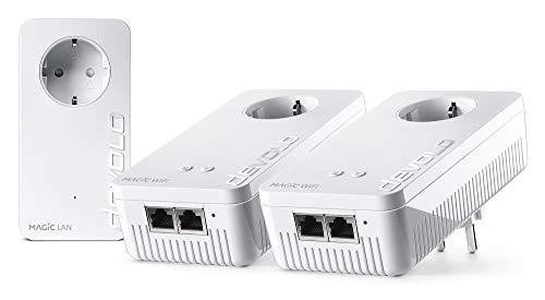 devolo Magic 2 Wifi AC Multiroom Kit dLAN 2.0: Ideal für Home Office und Streaming, Weltweit schnellstes Powerline-Multiroomkit für zuverlässiges WLAN ac einfach via Stromleitung, bis 2400 Mbit/s