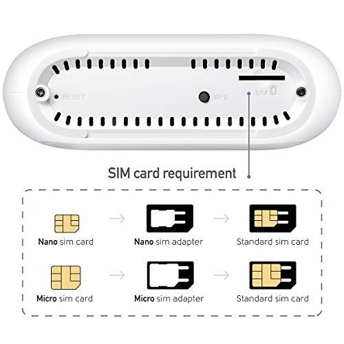Cudy LT300 4G LTE WLAN Router, 150 Mbit/s LTE-Download, 300 Mbit/s WiFi, SIM-Kartensteckplatz für jeden Betreiber FDD und TDD, Volte, Gigabit-Ports, abnehmbare LTE-Antennen, Qualcomm-Chipsatz,