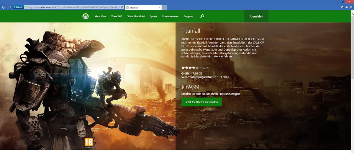 Xbox One: #Titanfall deutlich günstiger!