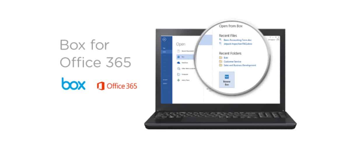 Box integriert sich in Office365
