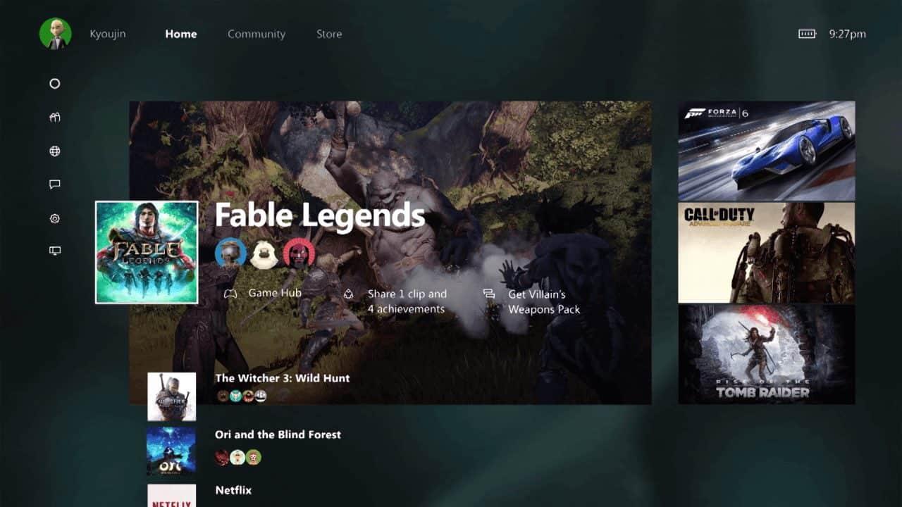 Das neue Xbox One Dashboard en Detail